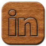 LinkedIn Woodburning Icon
