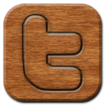 Twitter Woodburning Icon